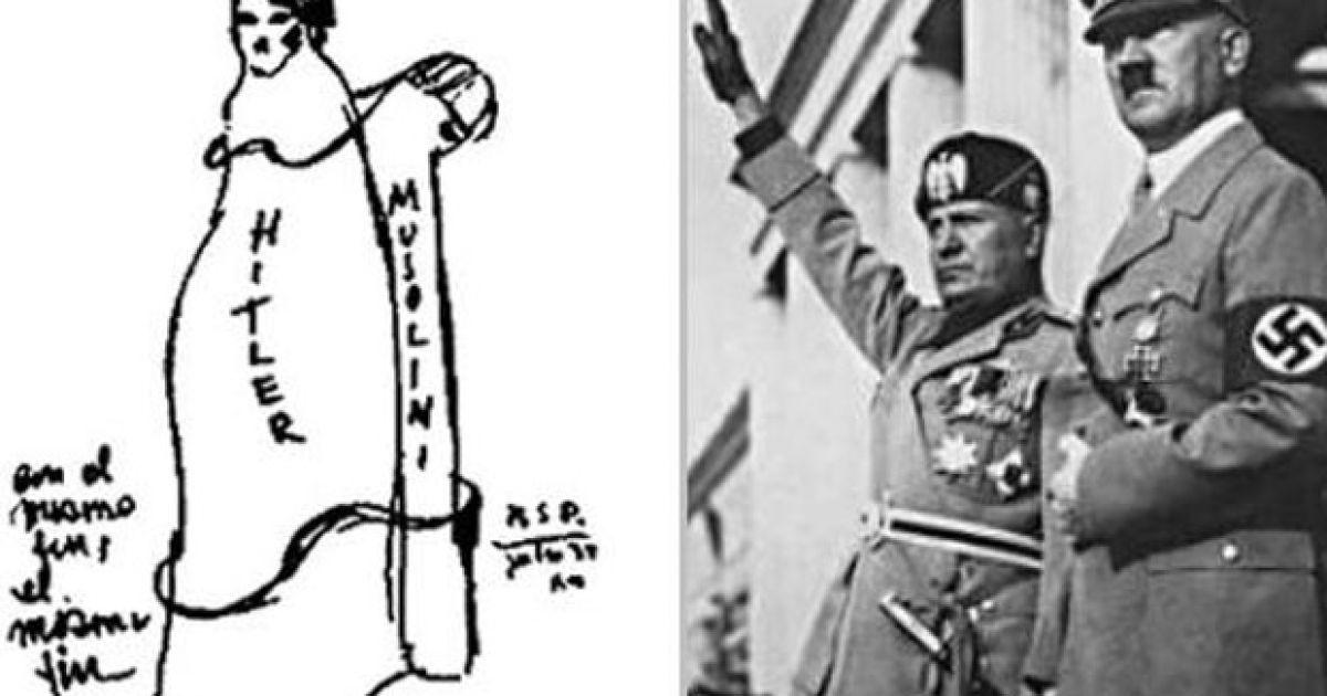 """""""Гитлер - Муссолини. Их ждет один конец, один конец"""" (1939). @ Life News"""