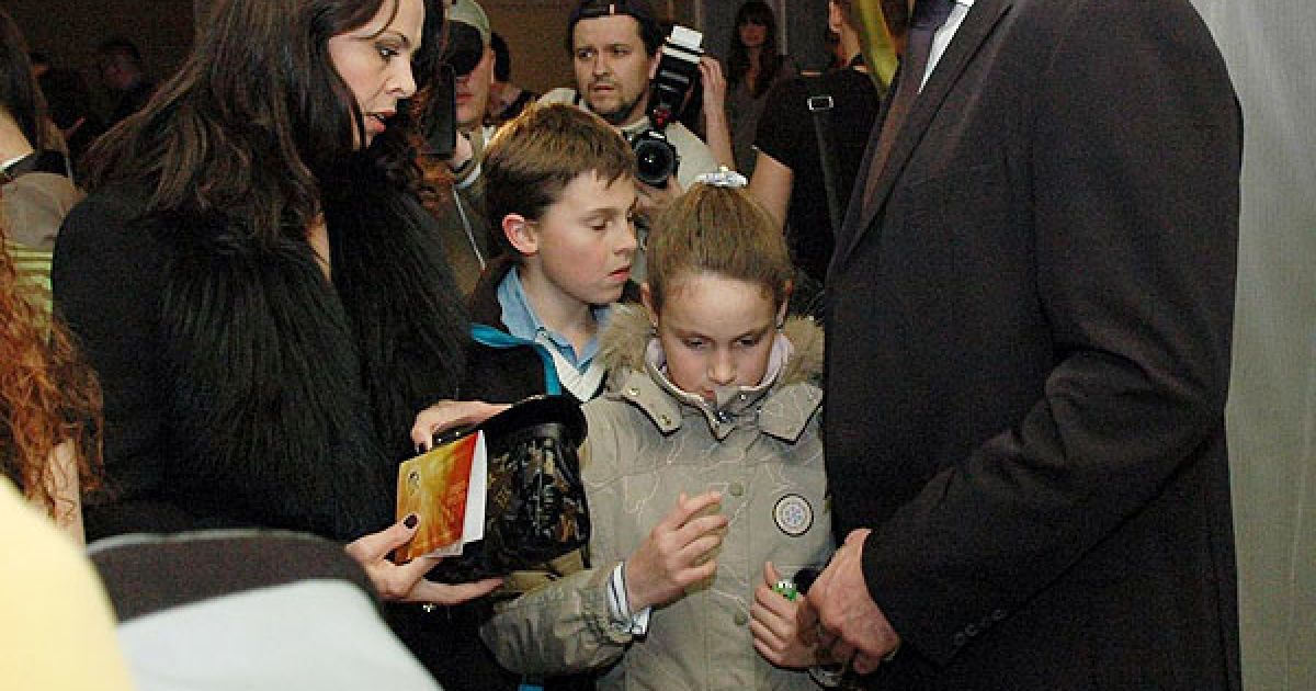 Віталій Кличко з дружиною Наталею та дітьми. @ ТСН.ua