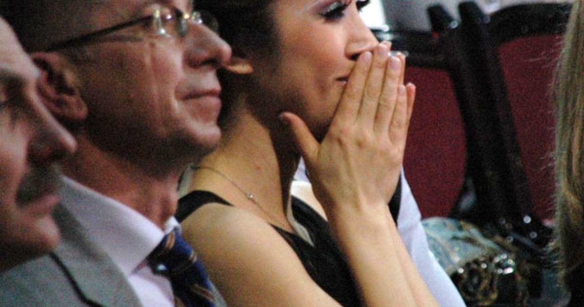 Під час нагородження Аня Завальська ридма ридала. @ ТСН.ua