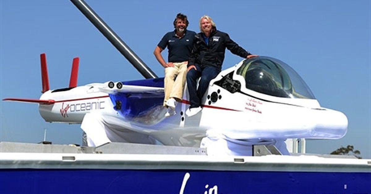 Субмарина Virgin Oceanic рассчитана на одного человека @ AFP