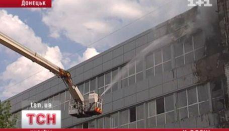 В Донецьку згоріла будівля