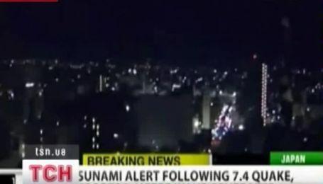 В Японии снова произошло землетрясение