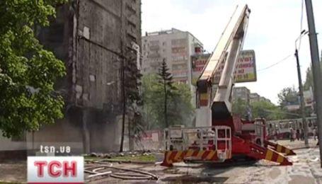 В Донецке горела семиэтажка офисного центра