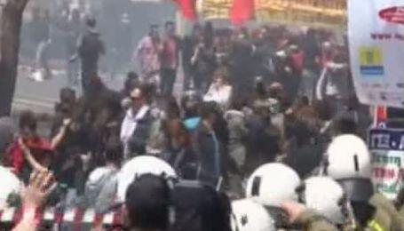 Забастовка в Греции переросла в побоище с полицией