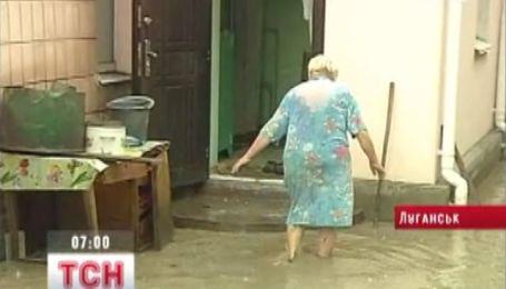 Затопило Луганск