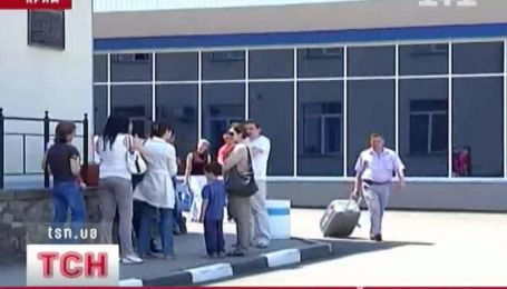 Аварийная посадка самолета в Симферополе