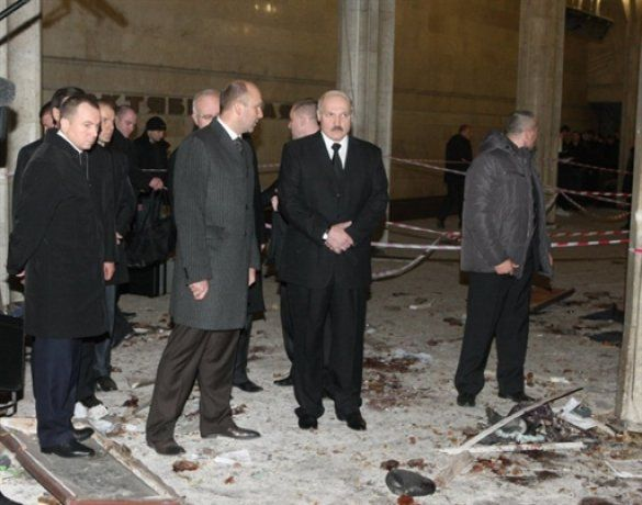 Лукашенко на місці теракту в Мінську