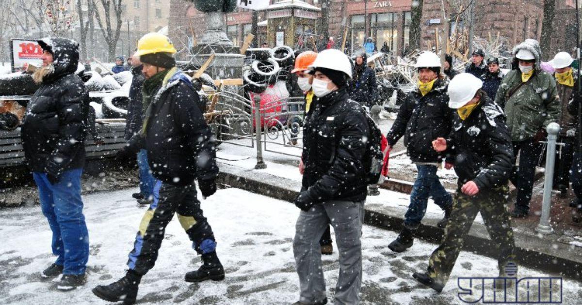Столкновения между сторонниками и противниками Евромайдана @ УНІАН