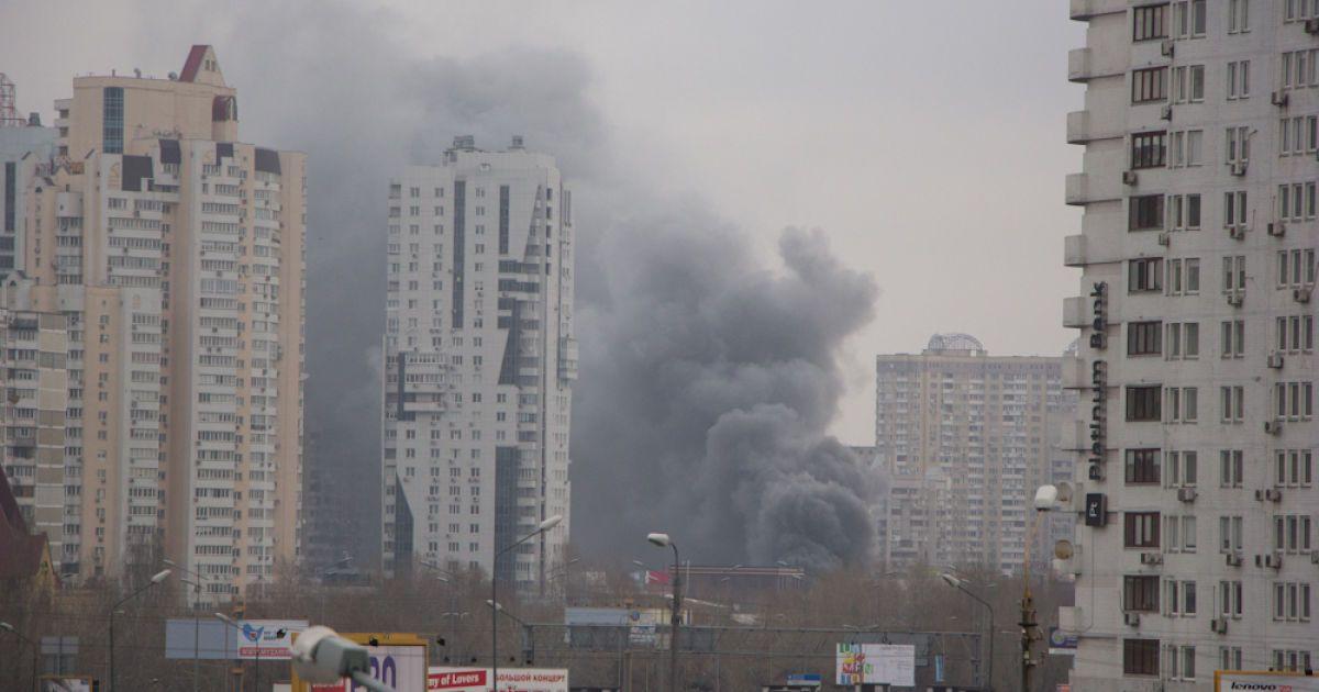 Позняки утром были в дыму @ euronews.com