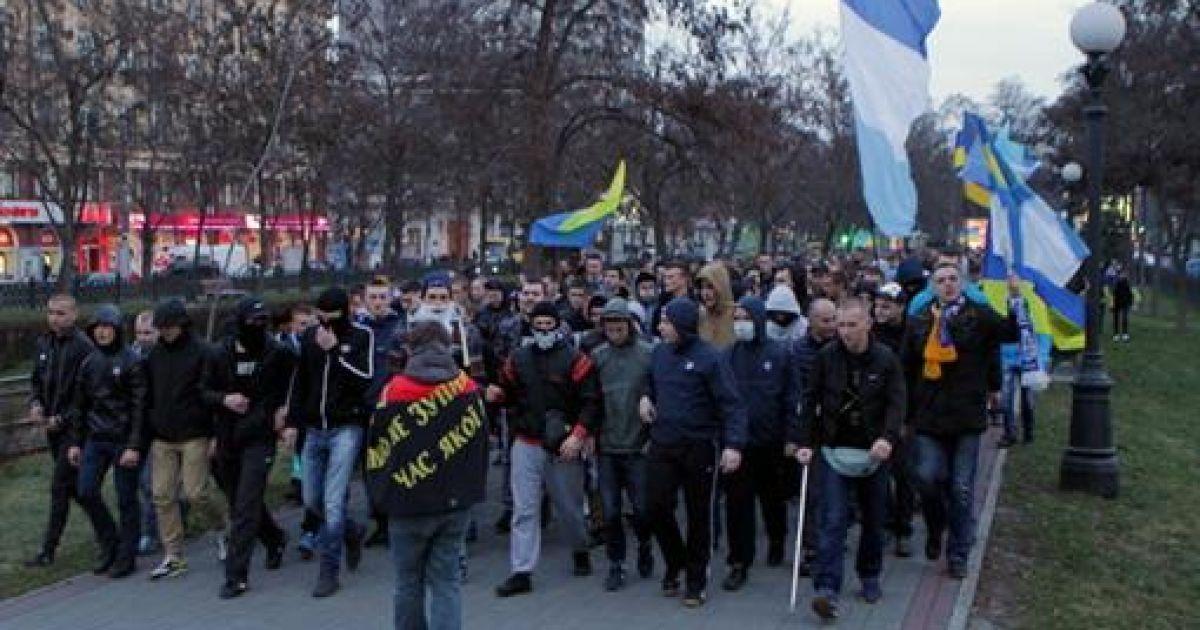Марш фанатов в Днепропетровске @ kp.ua