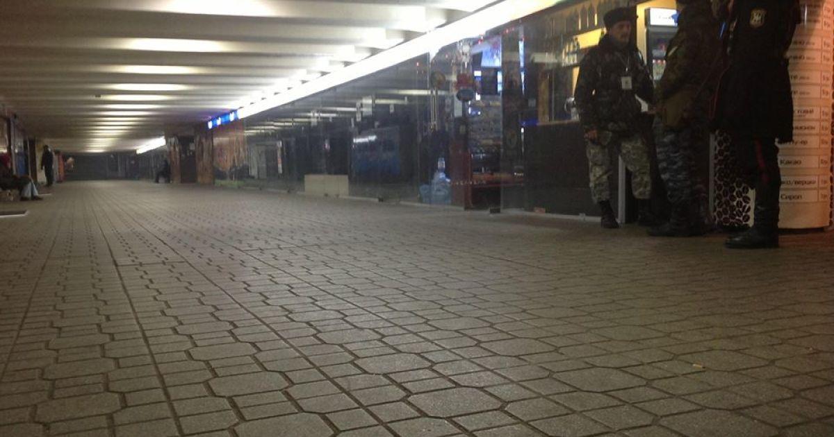 Идеально чистый переход возле Майдана Незалежности @ facebook.com/andriy.parubiy