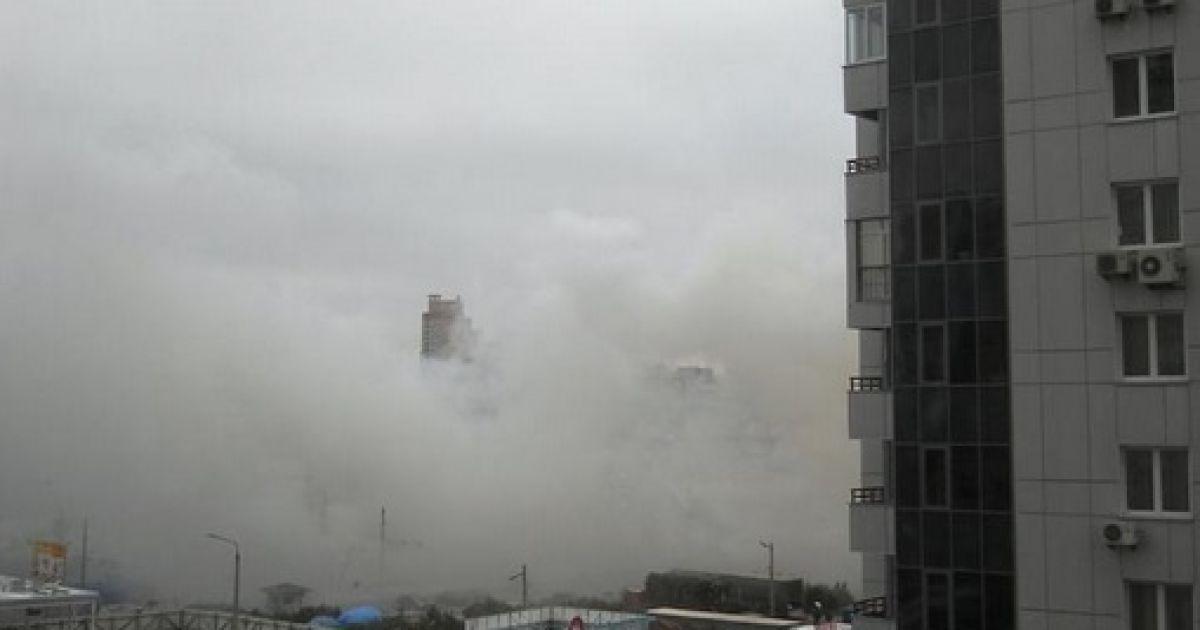 Позняки утром были в дыму @ Обозреватель