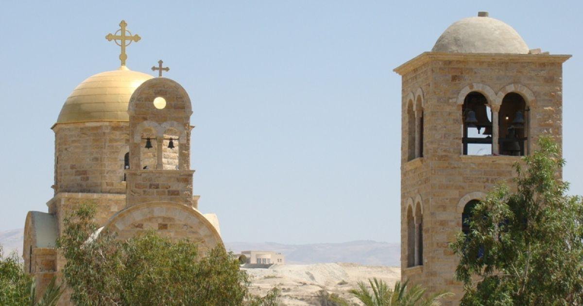 Храм Іоана Хрестителя на йорданському березі річки. Фото Дмитра Шаповалова @ ТСН.ua