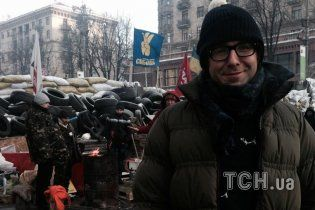 Российский ведущий Андрей Малахов приехал на Евромайдан