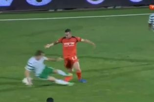 Ізраїльському футболісту зламали ногу у жорсткому підкаті  (відео 18+)