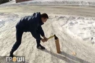 Вадим Титушко наколол дрова для митингующих и евромайдановцы его простили