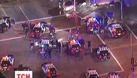 В Лос-Анджелесе водитель устроил аварию и получил пулю от полиции