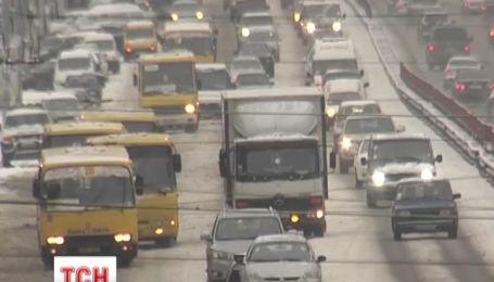 Україну накрив мокрий сніг  та похолодання