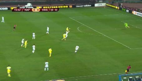 Наполи - Суонси Сити - 1:0. Видео гола Инсинье