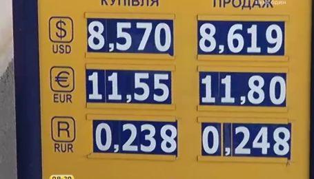 Через політичну кризу в Україні гривня продовжує падати