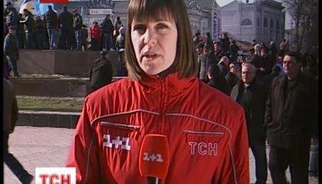 В Симферополе прошли одновременно два митинга