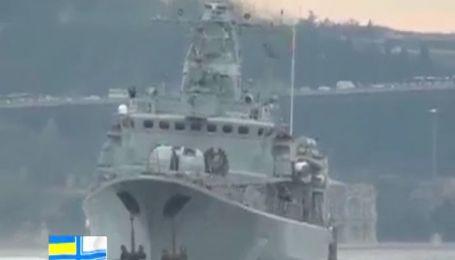 """Фрегат """"Гетман Сагайдачный"""" под украинским флагом прибыл в порт Одессы"""