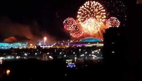 Небо на відкритті Олімпіади у Сочі осяяли вражаючі феєрверки