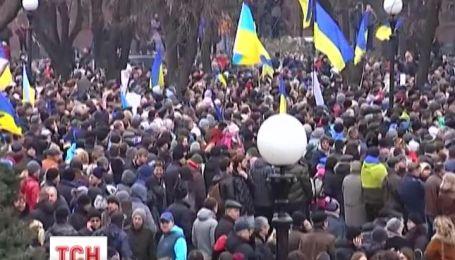 В восточных регионах люди выступили против оккупации
