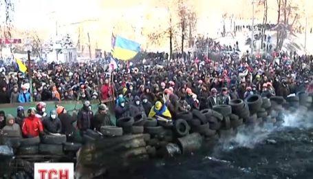 Вперше за час протистояння на Грушевського запанувала тиша