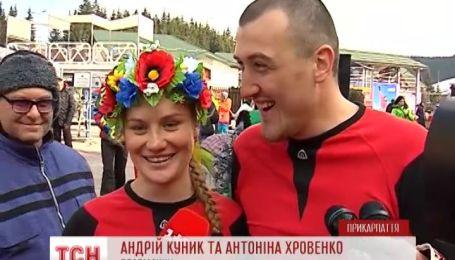 """В """"Буковеле"""" устроили веселые соревнования для женщин"""