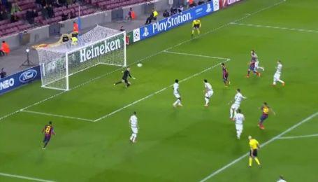 Барселона - Селтик - 6:0. Видео гола Тельо