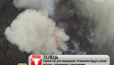 Компанія любителів відзняла кратер вулкана за мить до його виверження
