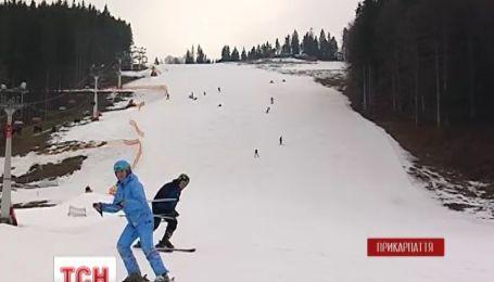 На Прикарпатье продолжается лыжный сезон