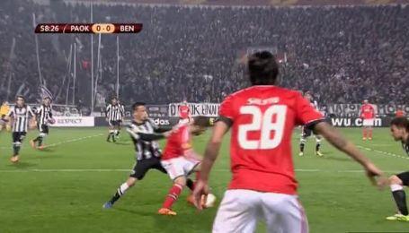 ПАОК - Бенфика - 0:1. Видео матча