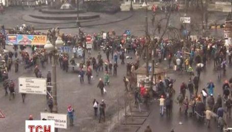 """З'явилось відео  витіснення """"Беркуту"""" з Європейської площі"""