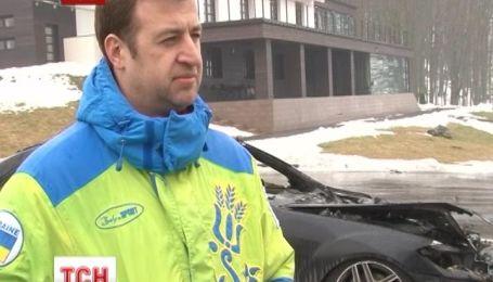 На Ровенщине дотла сожгли «Мерседес» Алексея Хахлева