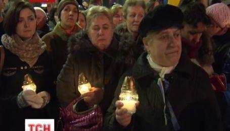 В Варшаве прошла акция в поддержку украинского Евромайдана