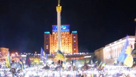 Невероятное видео исполнения гимна Украины 200-тысячным Евромайданом