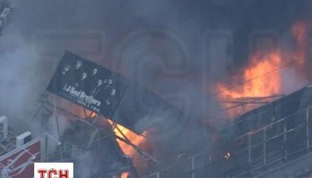 Из-за крупного пожара в центре Токио приостановлено движение скоростных поездов