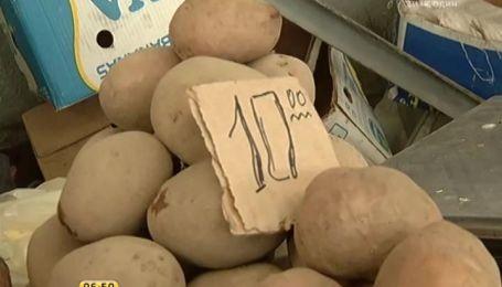 На столичных рынках цена за килограмм картошки подскочила до 10 гривен