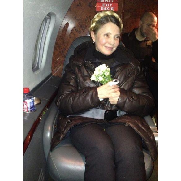 Юлія Тимошенко, перше фото на волі