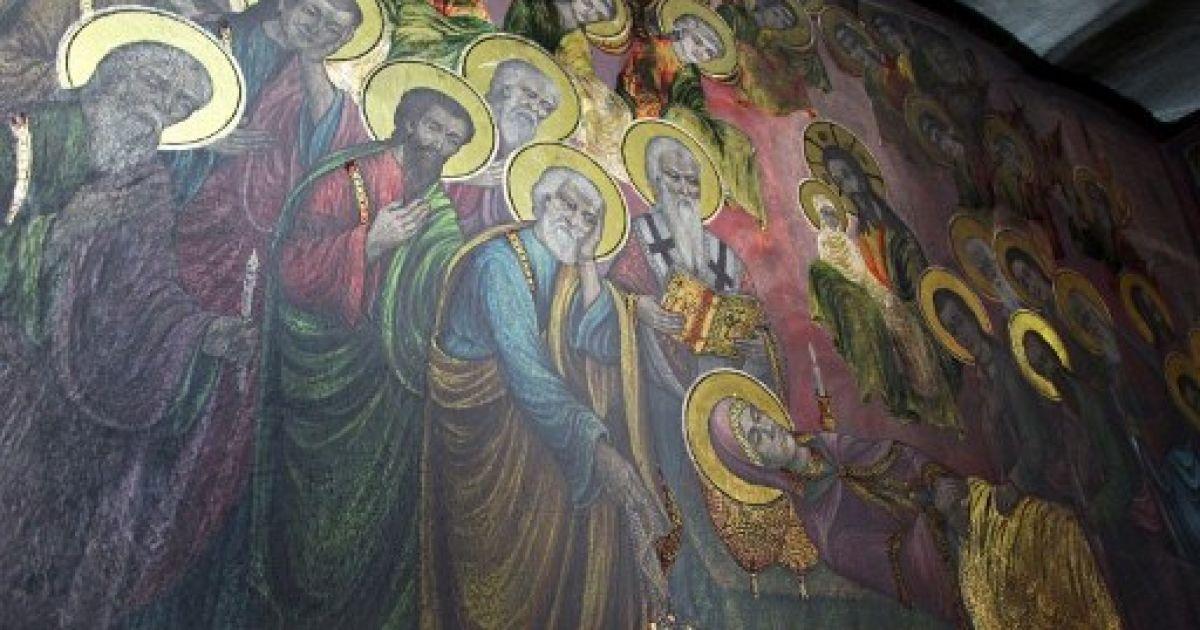 Македонія, Скоп'є. Відновлені старовинні фрески у церкві Святого Димитрія в місті Скоп'є. @ AFP