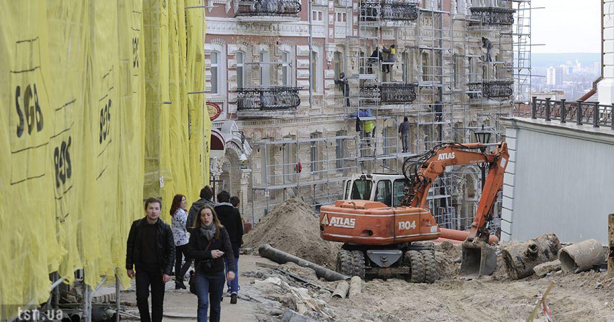 Реконструкція Андріївського узвозу в Києві @ Євген Малолєтка/ТСН.ua