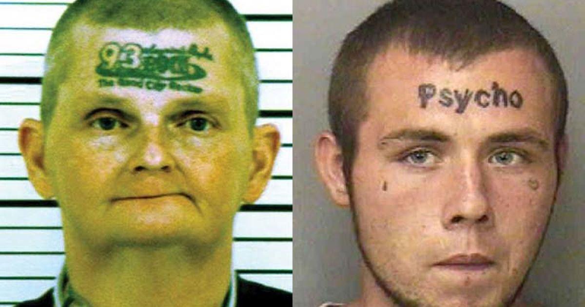 В'язнів США захопила мода на татуювання на лобі @ The Telegraph
