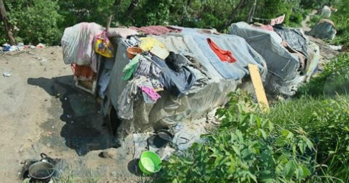 Цигани живуть надворі табором посеред Києва @ Сегодня
