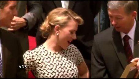 Актриса Скарлетт Йоханссон обзавелась именной звездой на голливудской Аллее славы