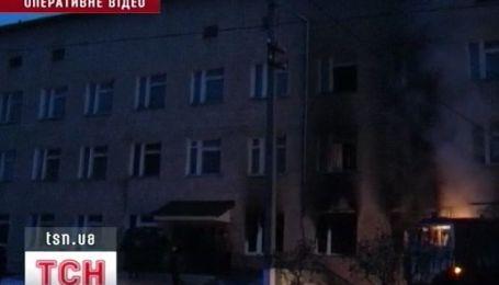 Пожар в районной больнице на Полтавщине