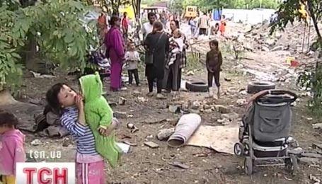Цыганский табор остановился в центре Киева
