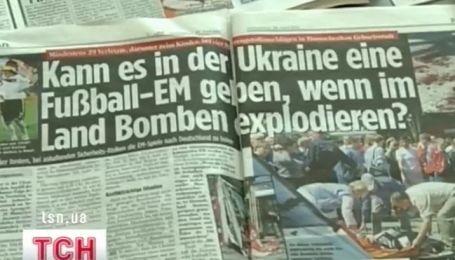 Европейские футбольные фаны напуганные взрывами