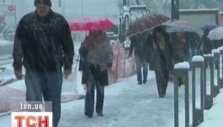 В Боснии выпал снег